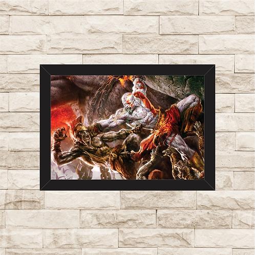 1039 - Quadro com moldura God of War