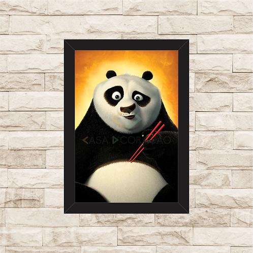 1677 - Quadro com moldura Kung Fu Panda