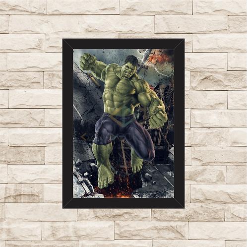 1067 - Quadro com moldura Hulk
