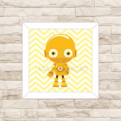 4128 - Quadro com moldura Baby C-3PO