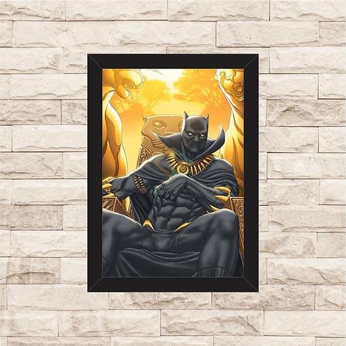 1182 - Quadro com moldura Pantera Negra