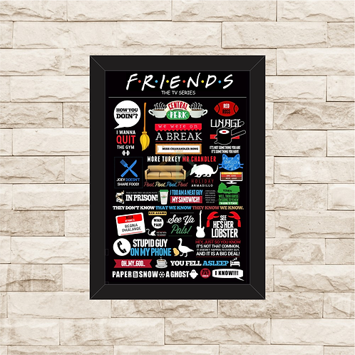 1133 - Quadro com moldura Friends - The TV Series
