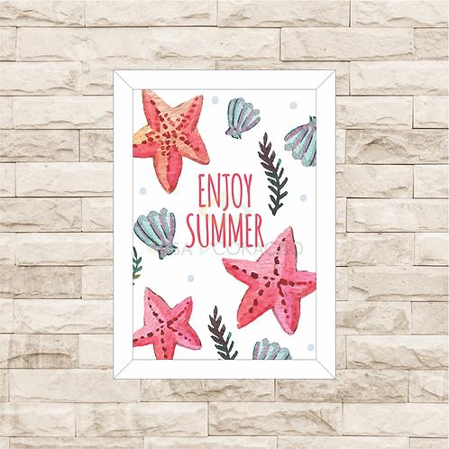 6012 D - Quadro com moldura Enjoy Summer