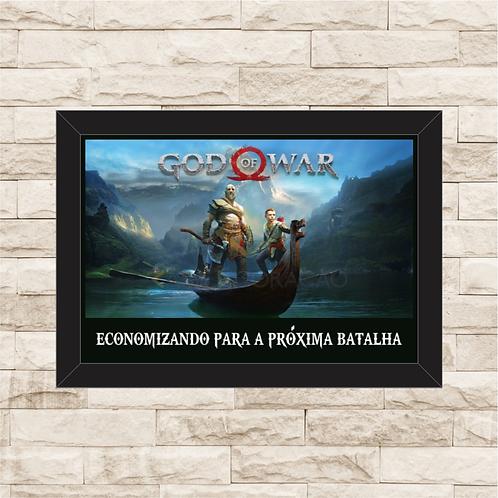 006 - Quadro para guardar dinheiro - Para a Próxima Batalha - God of War