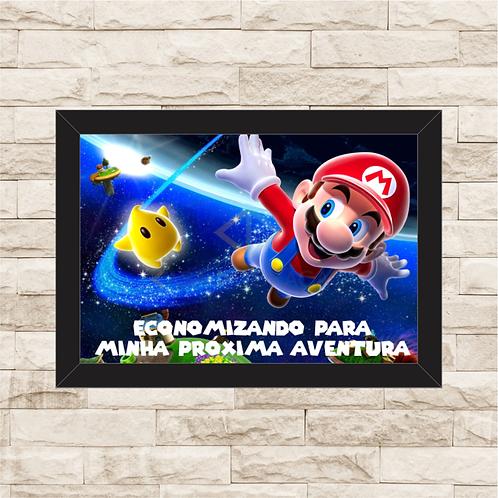 122 - Quadro para guardar dinheiro - Para Minha Próxima Aventura - Super Mario