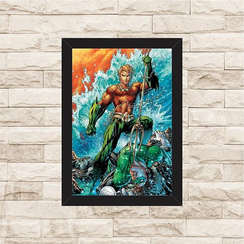 1046 - Quadro com moldura Aquaman
