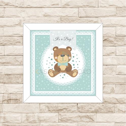 4029 - Quadro com moldura Urso Azul