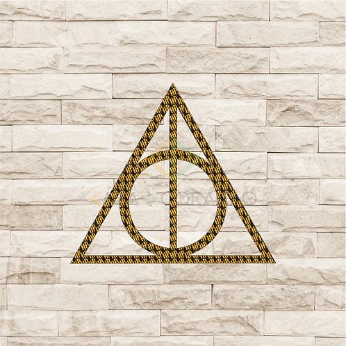 30029 - Placa Decorativa - Relíquias da Morte - Harry Potter