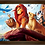 Thumbnail: 1251 - Quadro com moldura O Rei Leão