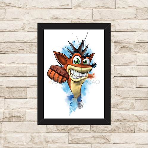 1842 - Quadro com moldura Crash Bandicoot
