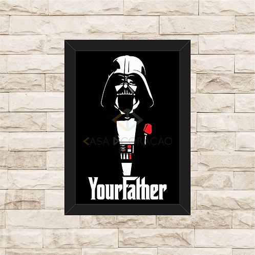 1252 - Quadro com moldura Star Wars - Darth Father