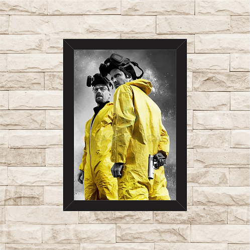 1323 - Quadro com moldura Breaking Bad - Walter e Jesse