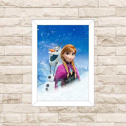 4150 - Quadro com moldura Frozen - Anna e Olaf