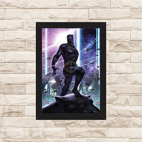 1183 - Quadro com moldura Pantera Negra