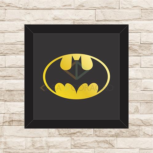 1227 - Quadro com moldura Batman Logo