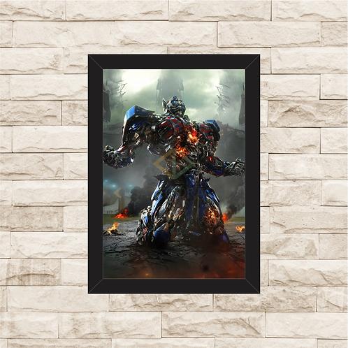 1644 - Quadro com moldura Transformers