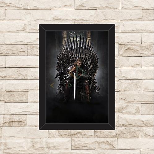 1459 - Quadro com moldura Game of Thrones