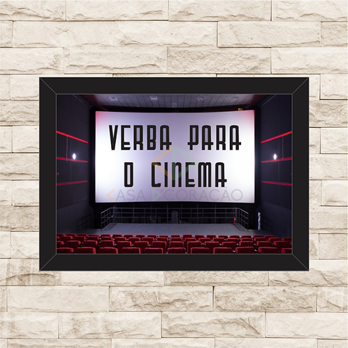 013 - Quadro para guardar dinheiro - Verba para o Cinema