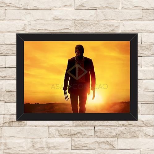 1098 - Quadro com moldura X-men - Logan - Wolverine