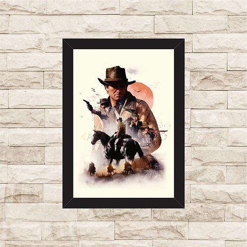 1727 - Quadro com moldura Red Dead Redemption 2