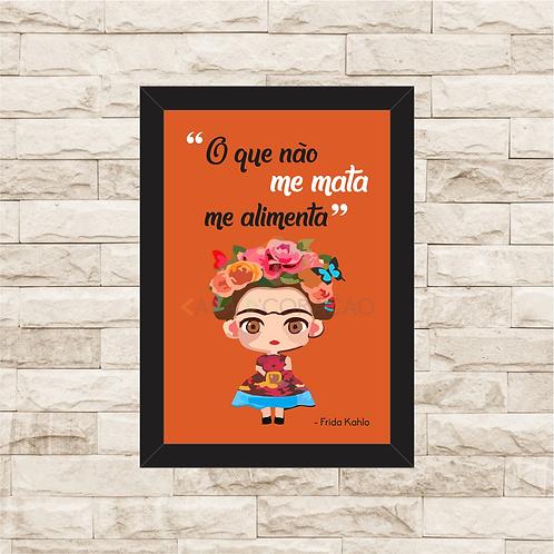 6106 - Quadro com moldura Frida Kahlo