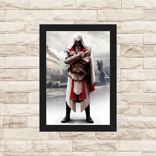 1744 - Quadro com moldura Assassin's Creed