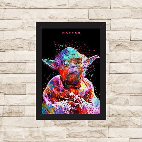 1114 - Quadro com moldura Star Wars - Yoda