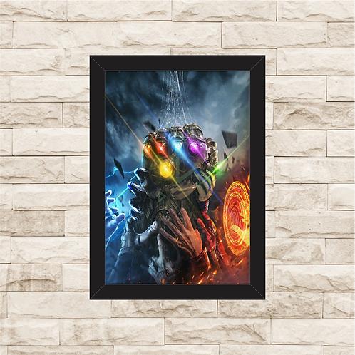 1163 - Quadro com moldura Vingadores - Punho de Thanos
