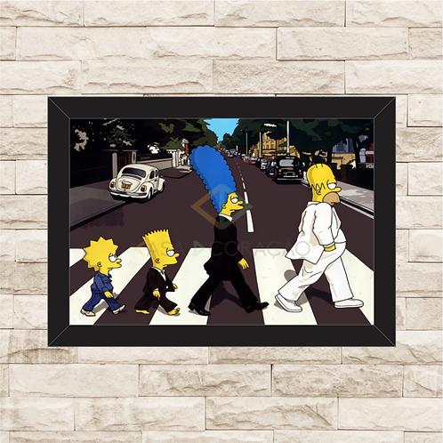 1091 - Quadro com moldura The Simpson - The Beatles