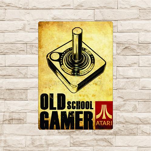 30010 - Placa Decorativa - Old School Gamer - Atari