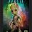 Thumbnail: 1082 - Quadro com moldura Guardiões da Galáxia - Groot