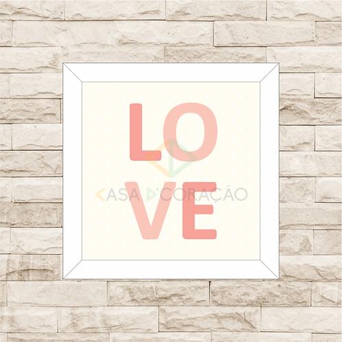 4039 A - Quadro com moldura Love - Rosa