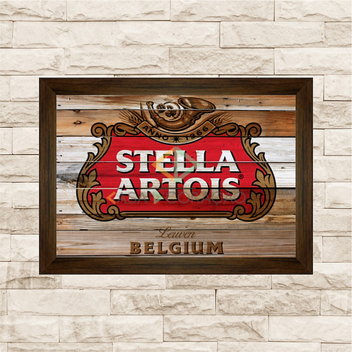 7014 - Quadro com moldura Stella Artois