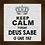 Thumbnail: 6239 - Quadro com moldura Keep Calm and Deus Sabe o Que Faz