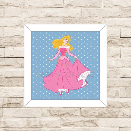 4099 - Quadro com moldura Princesas - Aurora - Bela Adormecida
