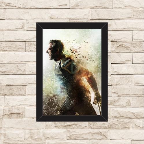 1391 - Quadro com moldura X-Men - Wolverine