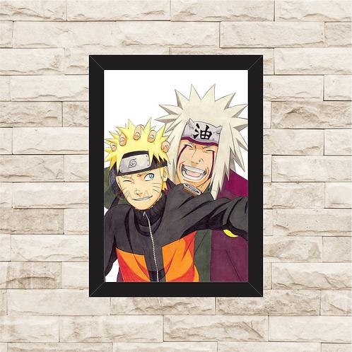 1236 - Quadro com moldura Naruto