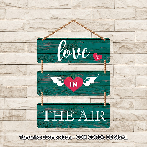 30088 - Placa Decorativa - Love is in the Air