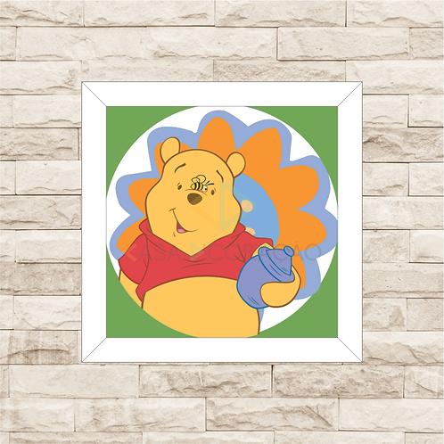 4085 - Quadro com moldura Ursinho Pooh