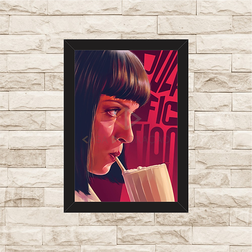1706 - Quadro com moldura Pulp Fiction