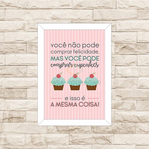 6046 - Quadro com moldura Cupcakes