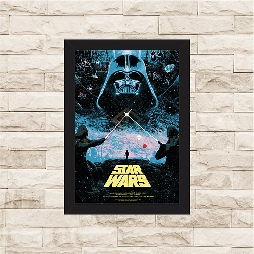 1090 - Quadro com moldura Star Wars