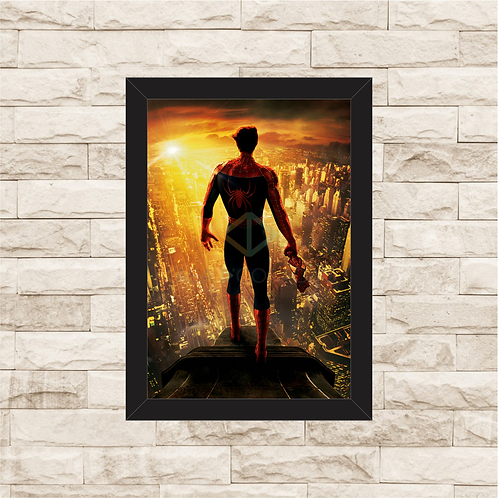 1374 - Quadro com moldura Homem Aranha