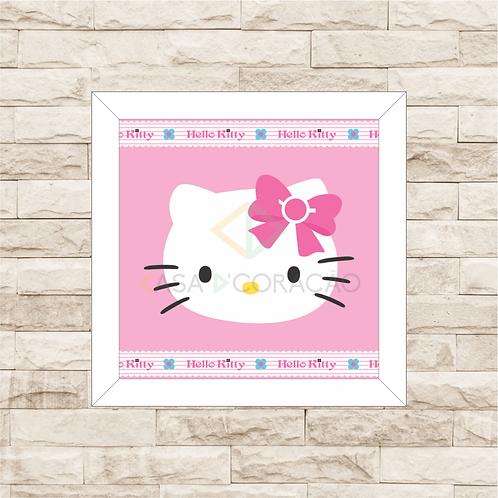4072 - Quadro com moldura Hello Kitty