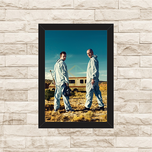 1452 - Quadro com moldura Breaking Bad - Walter e Jesse