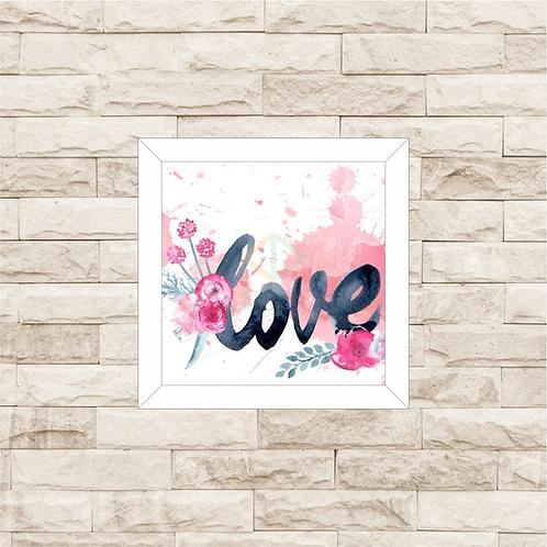 6204 - Quadro com moldura Love