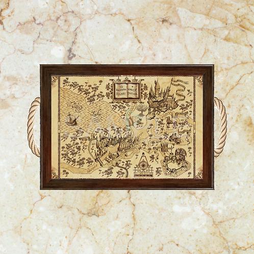 10052 - Bandeja Decorativa - Harry Potter - Mapa do Maroto