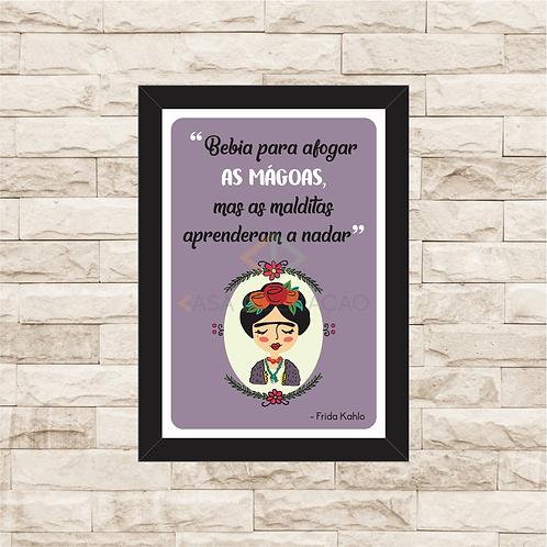 6109 - Quadro com moldura Frida Kahlo