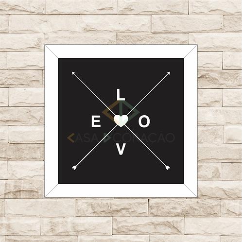 6346 - Quadro com moldura Love