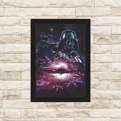 1743 - Quadro com moldura Star Wars - Darth Vader